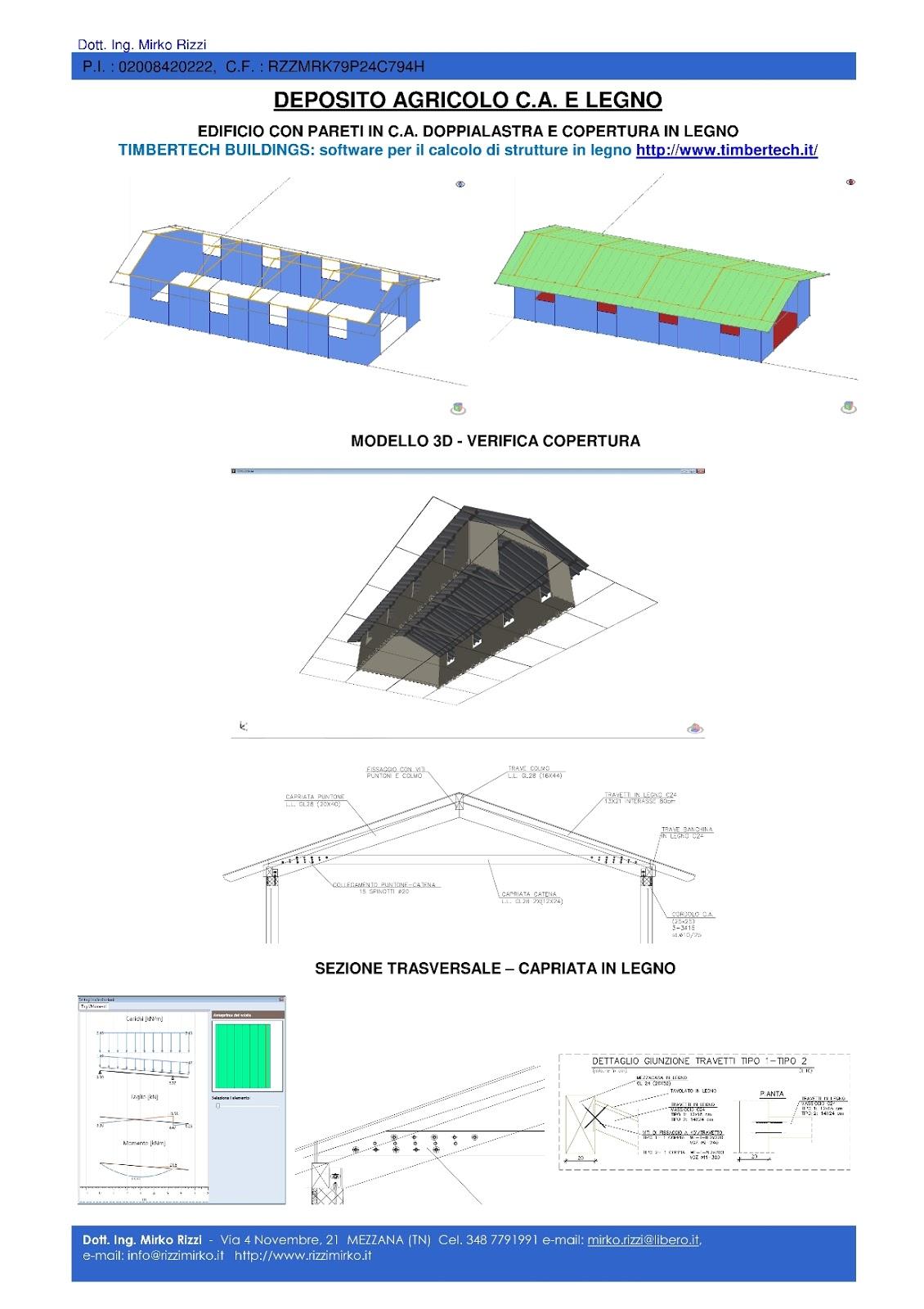 Progetto Capriata In Legno progettazione strutture: un mio lavoro. progetto strutture