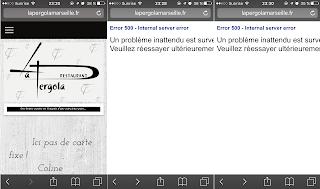 Captures d'écran - site web la Pergola