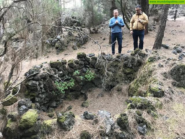 Rehabilitación del poblado de cabañas del lomo de las casas en el barranco de las ovejas del refugio del pilar en El paso