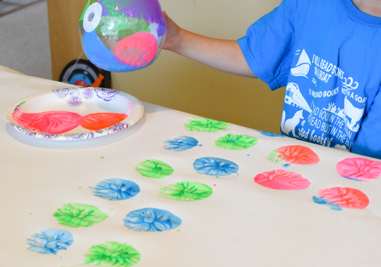 Beach Ball Painting Process Art What Can We Do With Paper And Glue