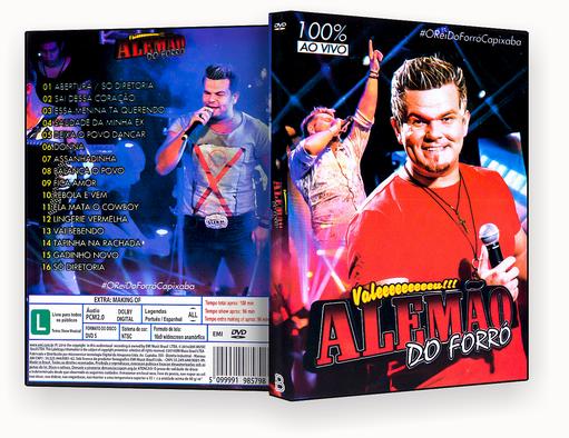 ALEMAO DO FORRO 100% AO VIVO – ISO – CAPA DVD