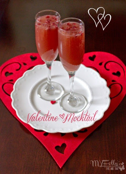 Valentine's Mocktail ~ Orange Pomegranate Mocktail/ This and That #Valentines2015