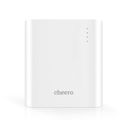 cheero Power Plus 3 13400mAh - Premium quality (Panasonic Lithium ion battery) Portable Charger External Battery Power Bank, Big Capacity + 2ft / 0.6m Dual (LightningTM and Micro USB) Cable for iPhone