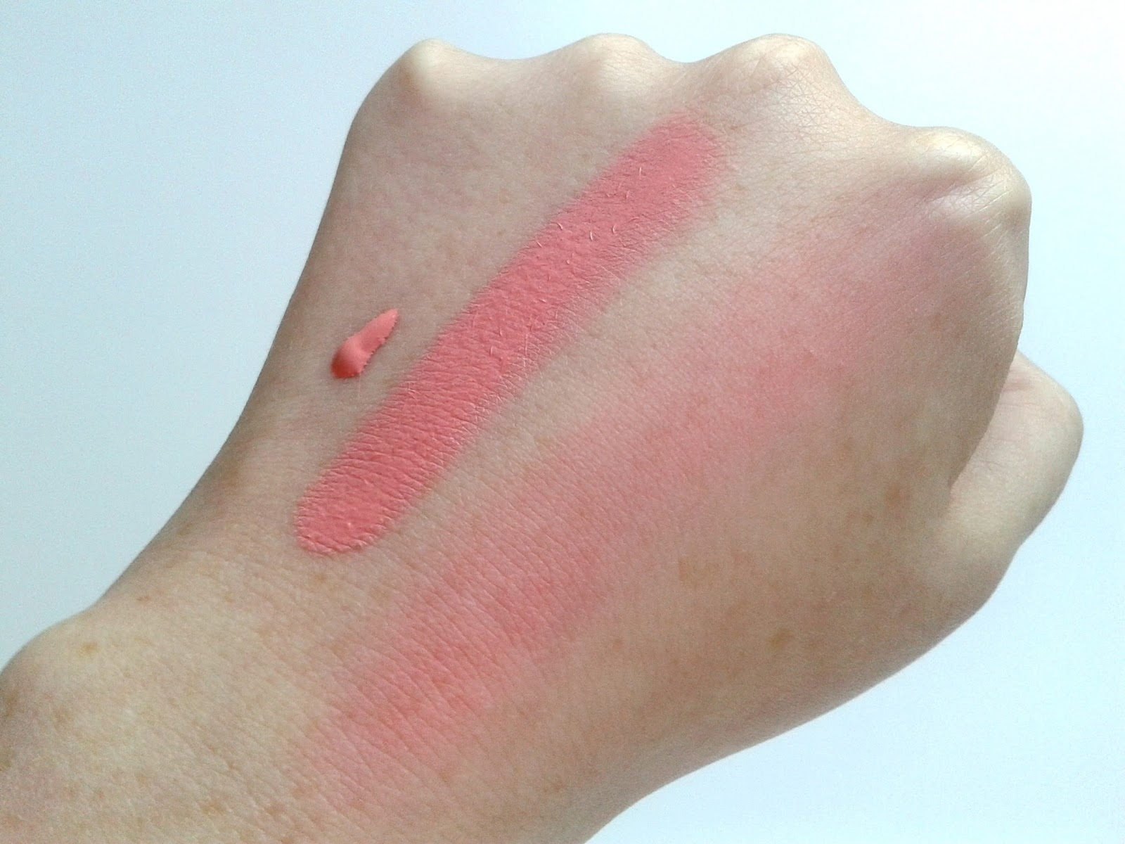 Makeup Revolution Vivid Blush Lacquer in Rush Beauty Review Summer Swatch