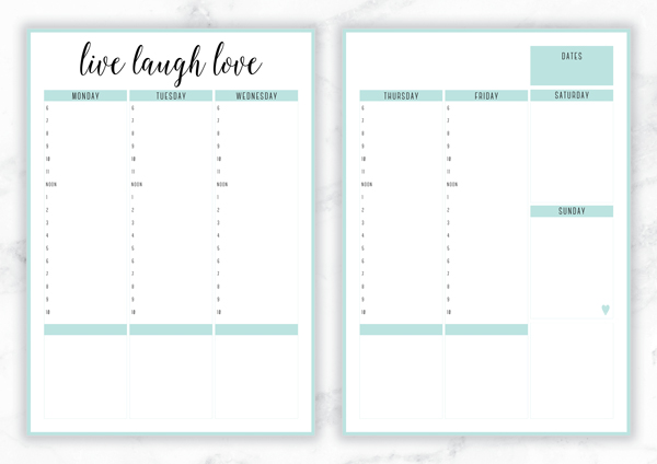 The Big List Of My Free Planners & Organizers - Eliza Ellis
