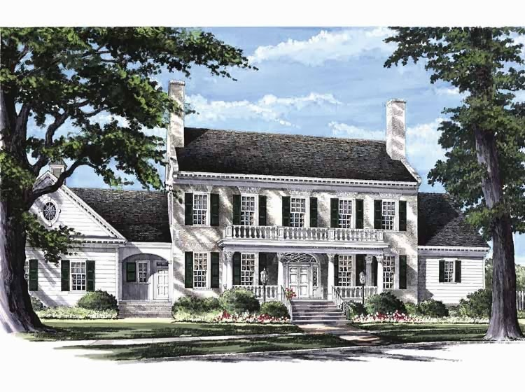 Georgian Colonial House Style picture