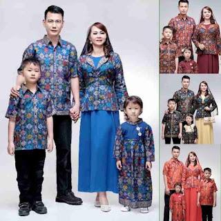 baju batik sarimbit keluarga muslim