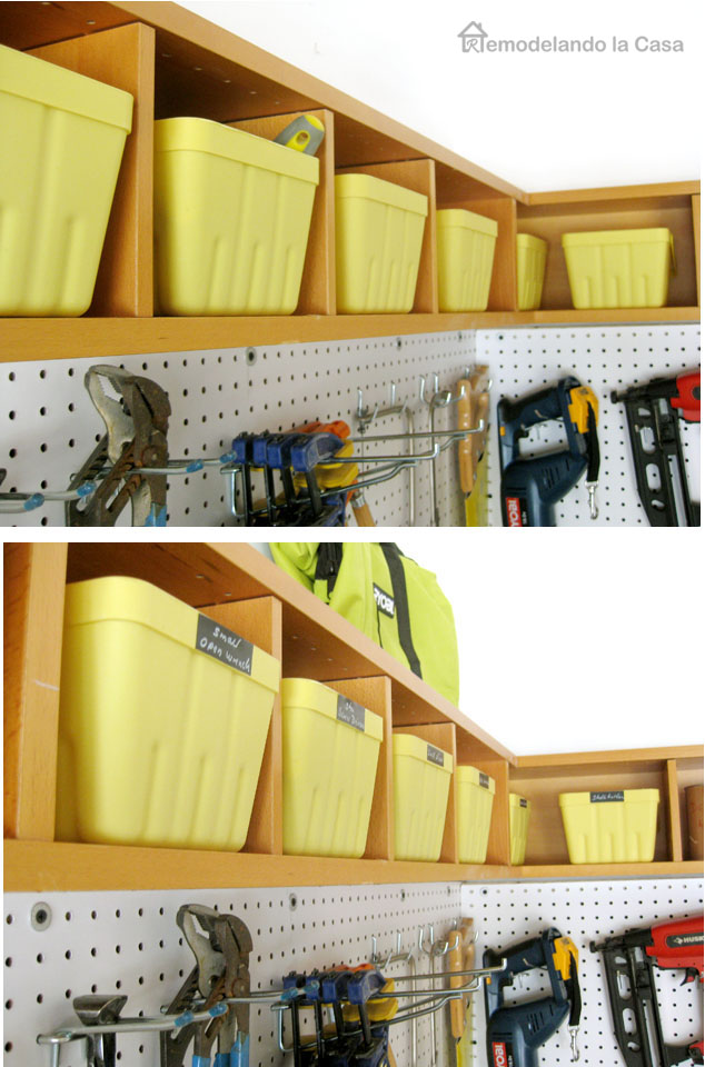 garage organization- pegboard installation