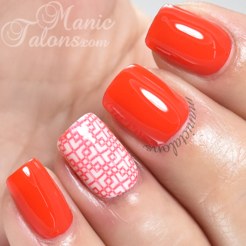 INM Out The Door Nail Lacquer Tangerine Dream Swatch