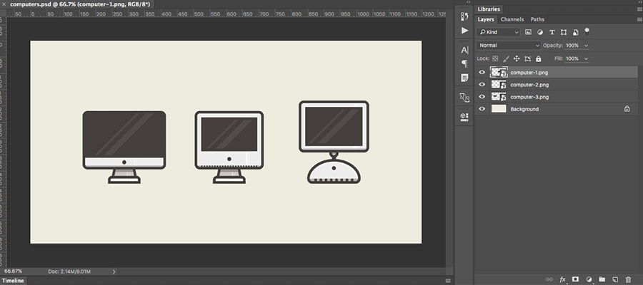 Photoshop asset export