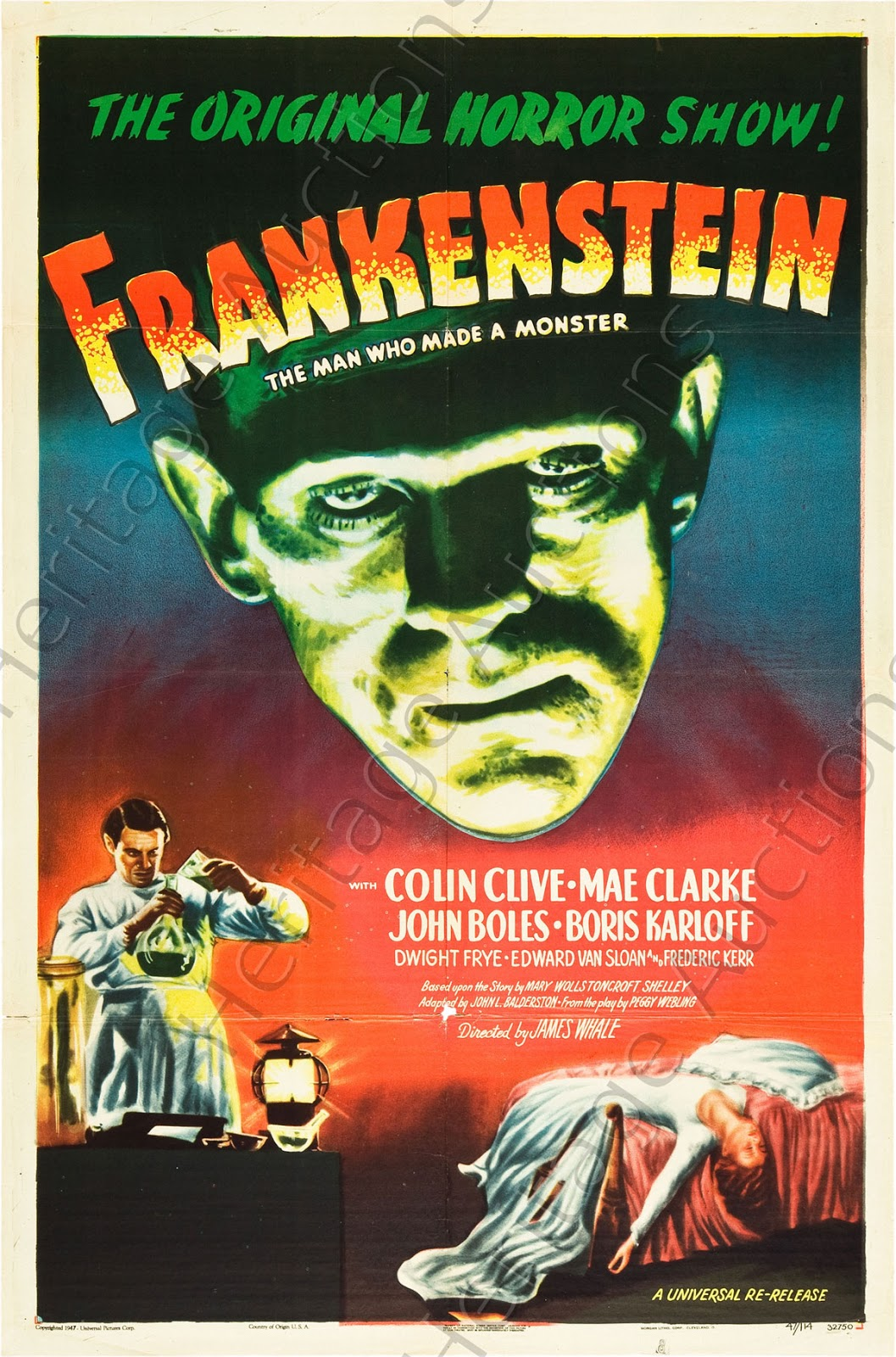 movie poster frankenstein horror posters 1930 films 80s 40 film 1931 prints graphic karloff close trilogy rarities anchor wars event