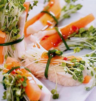 Rau mầm cuộn cá - Món ăn ngon mỗi ngày