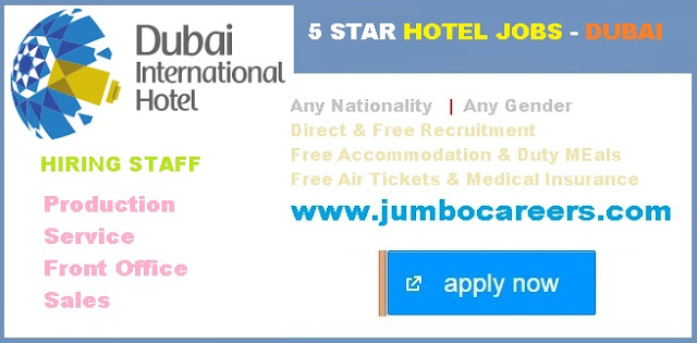 Dubai International Hotel Jobs salary. Latest 5 star hotel jobs at Dubai