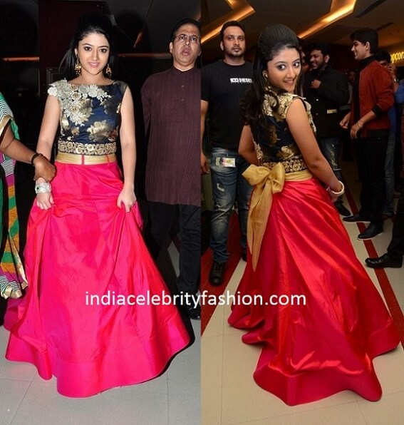 Shriya Sharma in Crop Top and Long Skirt