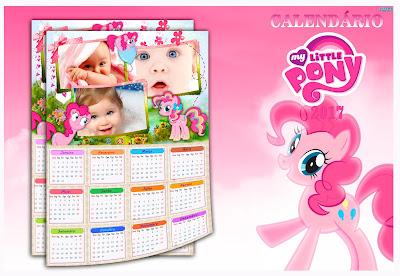 Calendário 2017 - my little pony