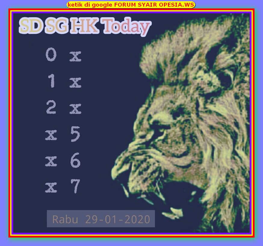 Kode syair Hongkong Rabu 29 Januari 2020 89