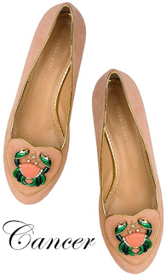 Charlotte Olympia Cancer Suede Flats Cosmic Collection