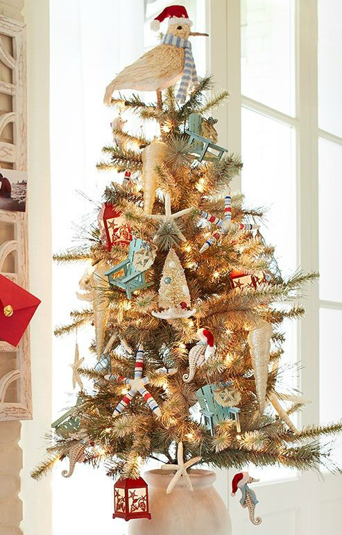 Beach Christmas Tree Decorations at Pier 1 | Beach Bliss Designs