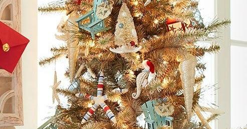 beach christmas tree decorations at pier 1 beach home decor design lifestyle ideas - Beach Christmas Tree