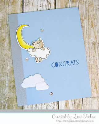 Congrats card-designed by Lori Tecler/Inking Aloud-stamps and dies from WPlus9
