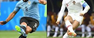 موعد مباراة البرتغال وأوروجواي غذا بتاريخ 30-6-2018 في الدور السته عشر في كأس العالم 2018 والقنوات الناقلة