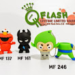 FLASHDISK UNIK MODEL MF 137 161 246 ELMO FLASH GREEN MONKEY