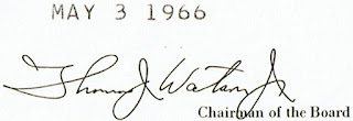 Facsimile signature of Thomas John Watson Jr.