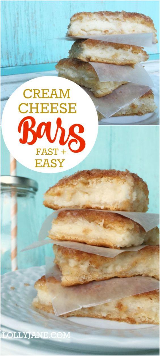 Cream Cheese Bars #cream #cheese #bars #cookie #cookierecipes #cake #cakerecipes #dessert #dessertrecipes