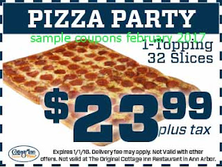 free Pizza Inn coupons february 2017