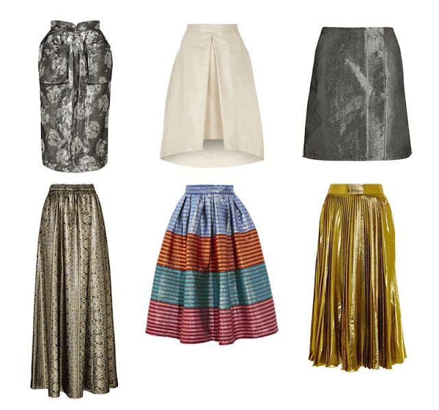Металлизированные юбки
