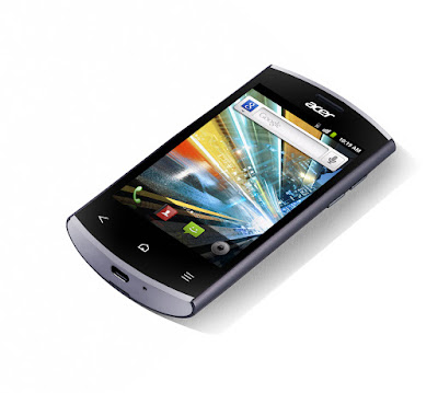 Acer Liquid Express E320 Specifications - LAUNCH Announced 2011, September  For Orange Also Known as Acer C6 Liquid Express DISPLAY Type TFT capacitive touchscreen, 256K colors Size 3.5 inches (~48.3% screen-to-body ratio) Resolution 320 x 480 pixels (~210 ppi pixel density) Multitouch Yes  - Touch sensitive controls  - Acer UI BODY Dimensions 115 x 60.8 x 13.4 mm (4.53 x 2.39 x 0.53 in) Weight 138 g (4.87 oz) SIM Mini-SIM PLATFORM OS Android OS, v2.3 (Gingerbread) CPU 800MHz ARM 11 Chipset Qualcomm MSM7227T-1 Snapdragon S1 GPU Adreno 200 MEMORY Card slot microSD, up to 32 GB (dedicated slot), 2 GB included Internal 512 MB RAM, 512 MB CAMERA Primary 5 MP, autofocus, LED flash Secondary No Features Geo-tagging Video Yes NETWORK Technology GSM / HSPA 2G bands GSM 850 / 900 / 1800 / 1900 3G bands HSDPA 900 / 2100 Speed HSPA GPRS Yes EDGE Yes COMMS WLAN Wi-Fi 802.11 b/g/n, hotspot NFC Region specific GPS Yes, with A-GPS USB microUSB v2.0 Radio Stereo FM radio, RDS Bluetooth v2.1, A2DP, EDR FEATURES Sensors Accelerometer, proximity Messaging SMS (threaded view), MMS, Email, Push Email, IM Browser HTML Java Yes, via Java MIDP emulator SOUND Alert types Vibration; MP3, WAV ringtones Loudspeaker Yes 3.5mm jack Yes BATTERY  Removable Li-Ion battery Stand-by Up to 400 h (2G) / Up to 480 h (3G) Talk time Up to 8 h (2G) / Up to 6 h 40 min (3G) Music play  MISC Colors Black  - MP3/WAV/WMA/eAAC+ player - MP4/WMV/H.264 player - Organizer - Document viewer  - Voice memo - Predictive text input