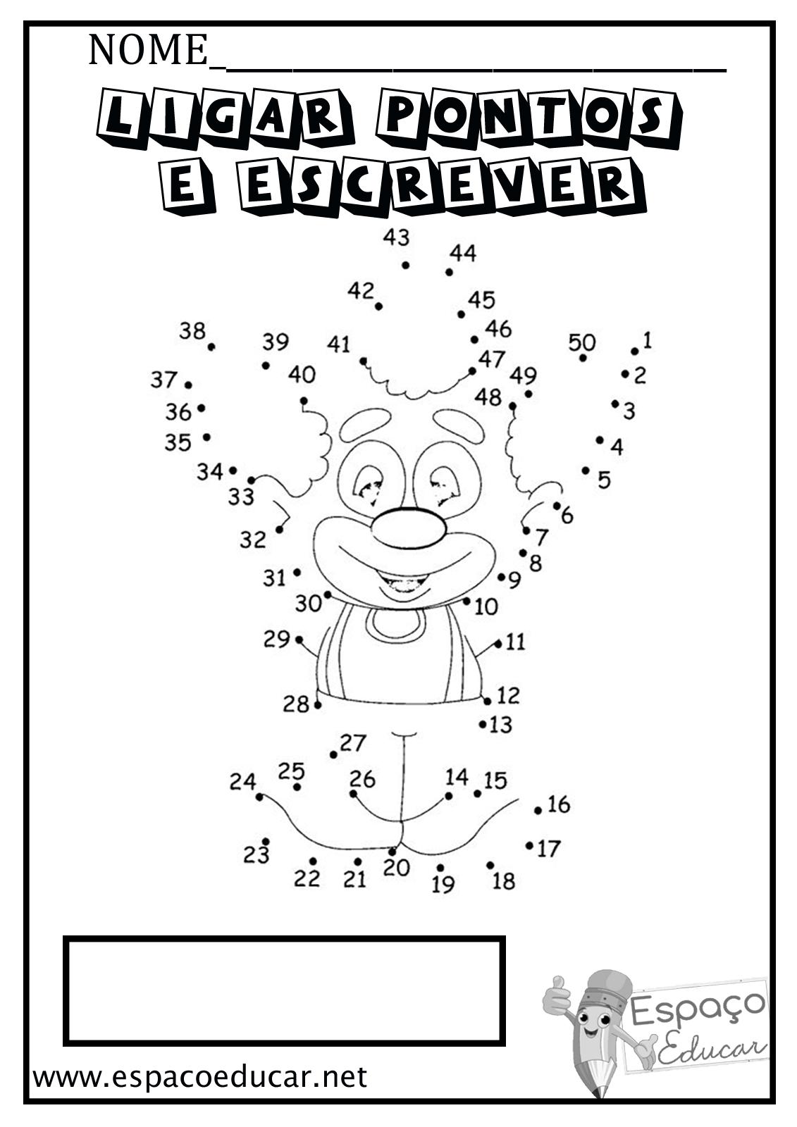 20 atividades de liga pontos e escrita grátis para alfabetização ou