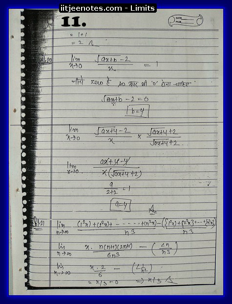 limit notes1