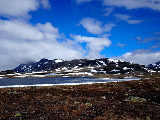 Tunra, jezero, Norsko, Jotunheimen, nikde nic