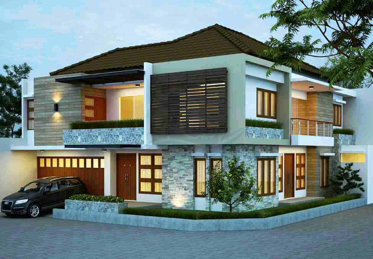 Contoh Model Rumah Mewah 2 Lantai Hook (Pojok)
