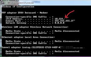 Cara mengetahui IP Address Server