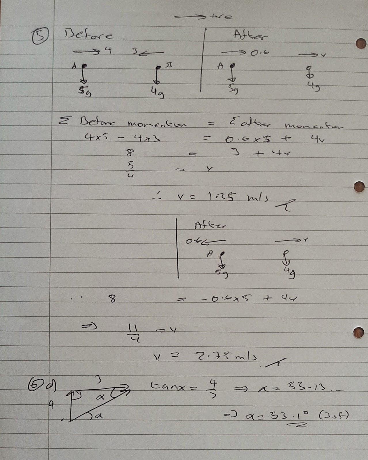 A Level Maths Notes Aqa Machanics 1 Mm1b Winter Exam Paper Solutions