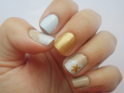 Summer beach nails tutorial