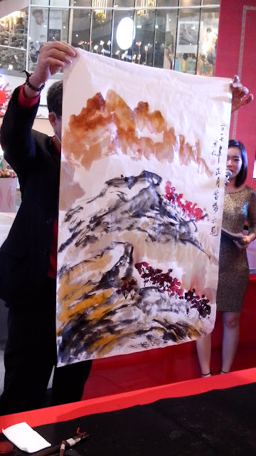 live demo painting, orchid, landscape,