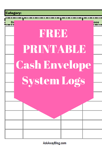 Free Printable Cash Envelope Transaction Logs for Cash Envelope System
