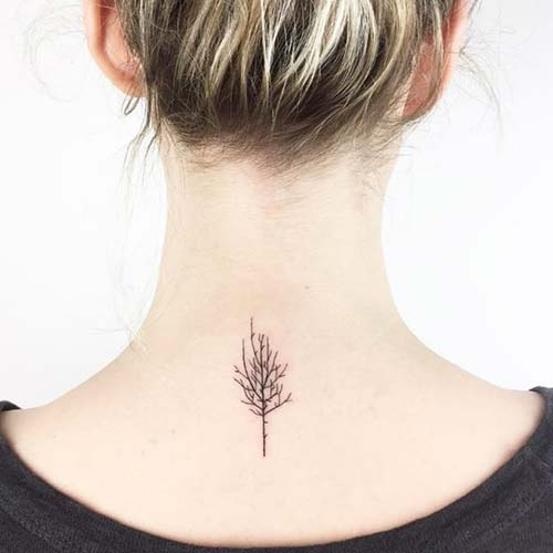 ense ağaç dövmesi nape tree tattoo