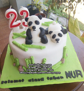 Kue Tart Ulang Tahun Panda Lucu