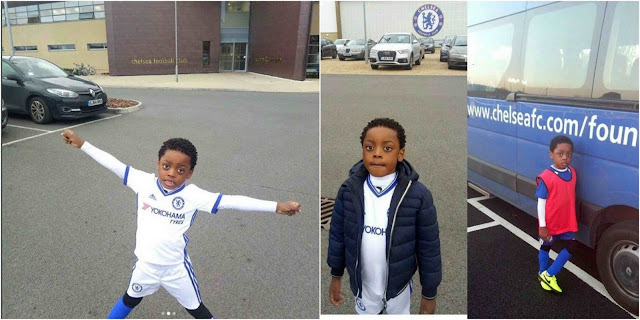 Terry G's son enrolls in Chelsea Foundation School (Photos)