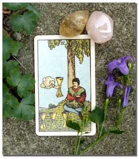 Rider Waite Tarot Four of Cups Rose Quartz Citrine