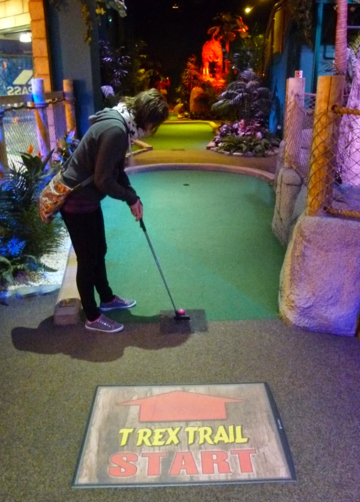 Volcano Falls Adventure Golf at Xscape in Castleford, Yorkshire