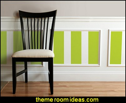 Stylin Green Stripe wall decals striped wallpaper  stripes on walls - striped decorating ideas - stripe wall decals - stripes bedding - stripes wallpaper - stripe theme baby nursery - decorating with stripes - striped rooms - painted stripes - striped walls - stripe bedding - stripe pillows - striped decorations