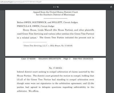 Green Tree Servicing, LLC v. House, No. 17-60164 (5th Cir. May 14, 2018)