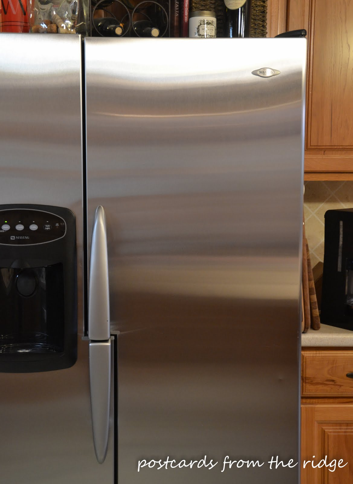 how to clean stainless steel appliances postcards from the ridge. Black Bedroom Furniture Sets. Home Design Ideas