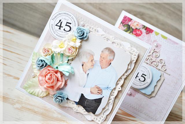 45 rocznica ślubu kartka okolicznościowa