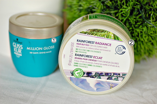 Gliss Kur Million Gloss, Rainforest Radiance The Body Shop Hair Butter
